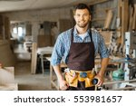 young carpenter | Shutterstock . vector #553981657