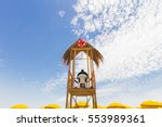Lifeguard Tower With Ring Buoy...