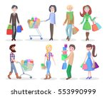 shopping people vector... | Shutterstock .eps vector #553990999
