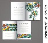 set of vector design templates. ... | Shutterstock .eps vector #553992775