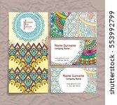set of vector design templates. ... | Shutterstock .eps vector #553992799
