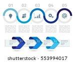 blue infographic process chart...   Shutterstock .eps vector #553994017