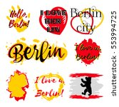 set of stickers with lettering... | Shutterstock .eps vector #553994725