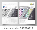 business templates for brochure ... | Shutterstock .eps vector #553996111