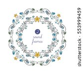 Vector Round Frames With Blue...
