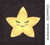 vector star cute. hand drawn...   Shutterstock .eps vector #553999915