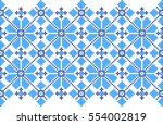 embroidered pattern on... | Shutterstock .eps vector #554002819