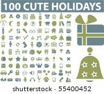 100 holidays   party signs.... | Shutterstock .eps vector #55400452