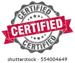 certified. stamp. sticker. seal.... | Shutterstock .eps vector #554004649