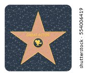 walk of fame star. flat vector... | Shutterstock .eps vector #554006419