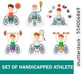 set of handicapped athlete....   Shutterstock .eps vector #554006869