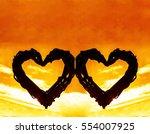 couple wicker silhouette of... | Shutterstock . vector #554007925