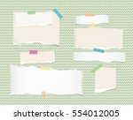 white  light brown  note ... | Shutterstock .eps vector #554012005