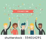 formal party happy people... | Shutterstock .eps vector #554014291