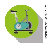 spinning bike machine isolated... | Shutterstock .eps vector #554015629