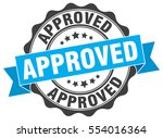 approved. stamp. sticker. seal. ...   Shutterstock .eps vector #554016364