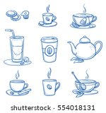 icon set of different tea and...
