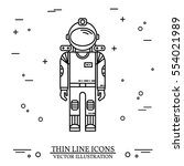 astronaut in space. human... | Shutterstock .eps vector #554021989