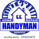 handyman home repair services.... | Shutterstock .eps vector #554023879