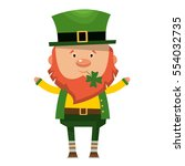 saint patrick. national irish... | Shutterstock .eps vector #554032735
