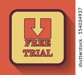 free trial icon  colored... | Shutterstock . vector #554034937