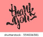 thank you lettering. hand... | Shutterstock .eps vector #554036581