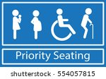 priority seating sign. ... | Shutterstock .eps vector #554057815
