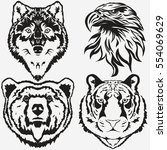 tiger eagle wolf bear logo...