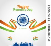 republic day of india 26 th... | Shutterstock .eps vector #554070085
