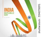 republic day of india 26 th... | Shutterstock .eps vector #554070091