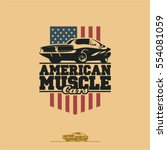 american muscle cars label ...