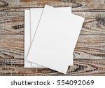 blank catalog  magazines book... | Shutterstock . vector #554092069