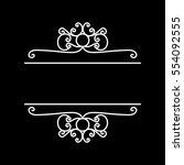 line border  frame    vector... | Shutterstock .eps vector #554092555