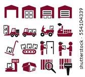 shipping icon set   Shutterstock .eps vector #554104339