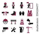 safety first icon set | Shutterstock .eps vector #554104477
