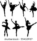 Set Of Ballet Dancers...