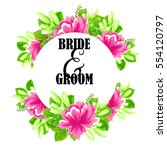 invitation with floral... | Shutterstock .eps vector #554120797