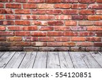 Colorful Old Red Brick Wall...
