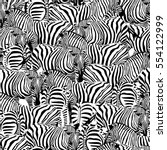 Zebra Seamless Pattern.savanna...