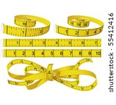 measuring tapes | Shutterstock .eps vector #55412416
