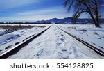 Deep Winter Train Tracks And...