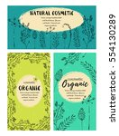 vector vintage template label... | Shutterstock .eps vector #554130289