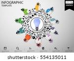 businessman brainstorming ... | Shutterstock .eps vector #554135011