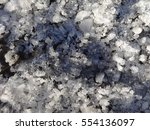snow melts in the sunlight and... | Shutterstock . vector #554136097