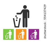 trash icons set great for any... | Shutterstock . vector #554137429
