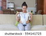Happy Smiling Pregnant Woman...