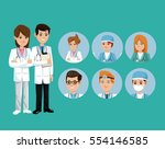 doctor medical team workers...   Shutterstock .eps vector #554146585