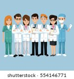 team health care hospital... | Shutterstock .eps vector #554146771