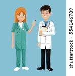Doctor And Nurse Stethoscope...