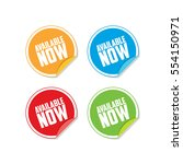 colorful available now sticker... | Shutterstock .eps vector #554150971